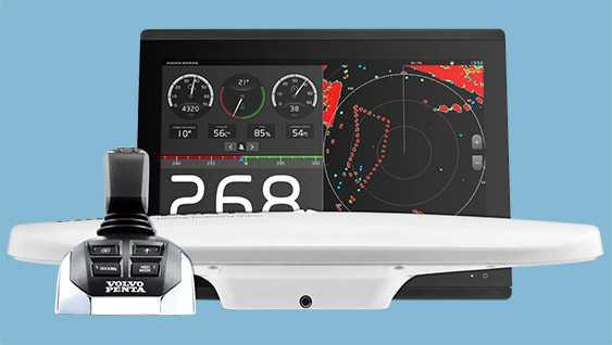 Antena y joystick Dynamic Positioning System de Volvo Penta